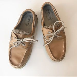 Sperry Topsider Boat Shoes Tan Size 7.5